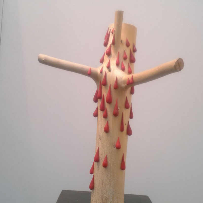 Gregor Prugger - Crossed - lindenwood 58 x 30 cm 2008