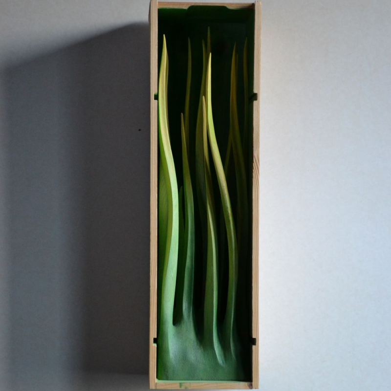 Gregor Prugger - Taste of wine - lime wood 40 x 15 cm 2010