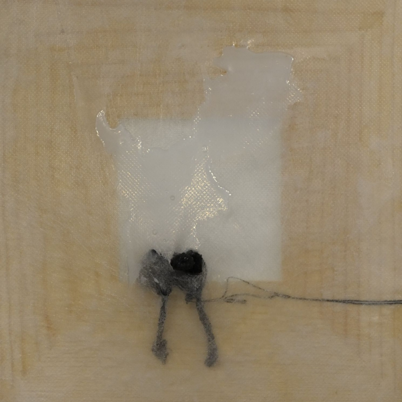 Sara Stuflesser -  Take up again - thread/glue 26x26 cm 2013