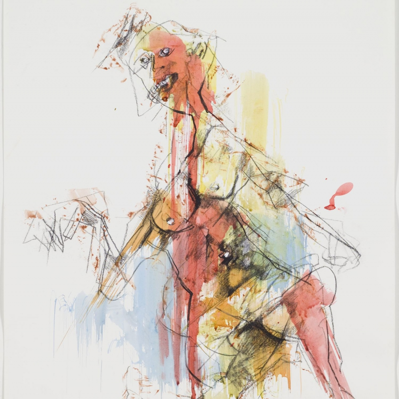 Josef Kostner - Distrutta - chalk drawing/ink 50 x 70 cm 2000